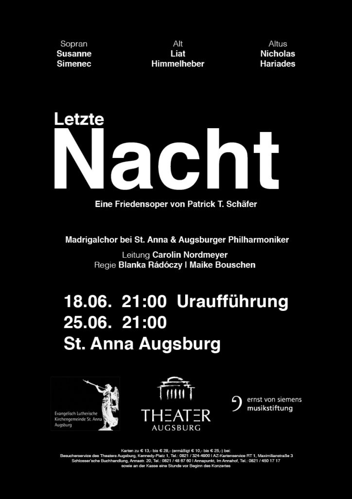 Letzte Nacht - Eine Friedensoper von Patrick T. Schäfer